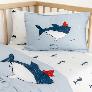 Jadaloo Anti-Dustmite Baby Portable Nap Quilt Set - Baby Shark
