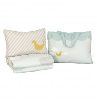 Jadaloo Anti-Dustmite Baby Portable Nap Quilt Set - Candy Blue