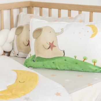 Jadaloo Anti-Dustmite Baby Portable Nap Quilt Set - Starry Elephant