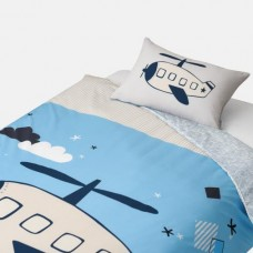 Jadaloo Anti-Dustmite Four Season Duvet Set - Blue Helicopter