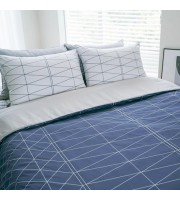 Jadaloo Anti-Dustmite Ultra Soft Duvet Set - Blue Diamonds