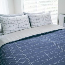 Jadaloo Anti-Dustmite Four Season Duvet Set - Blue Diamonds