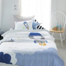Jadaloo Anti-Dustmite Four Seasons Duvet Set - Rocket Sky