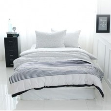 Jadaloo Anti-Dustmite Four Seasons Duvet Set - Gray Stripes