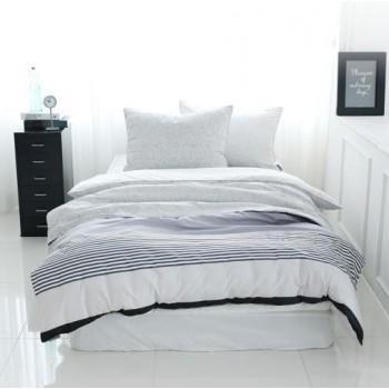 Jadaloo Anti-Dustmite Four Seasons Duvet Set - Gray Stripes