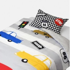 Jadaloo Anti-Dustmite Four Seasons Duvet Set - Racing Cars