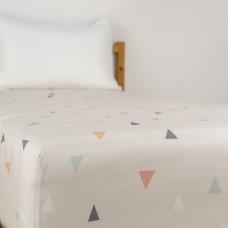 Jadaloo Anti-Dustmite Ultra Soft Single Size Fitted Sheet - Juni Peach