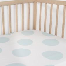 Jadaloo Anti-Dustmite Ultra Soft Crib Fitted Sheet - Dino Eggs