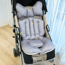 Little Seeds Stroller Pad - Goodnight Gray