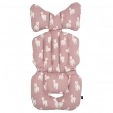 Little Seeds Stroller Pad - Pink Alpaca
