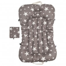 Little Seeds Portable Baby Bed and Blanket Set - Milky Way Gray