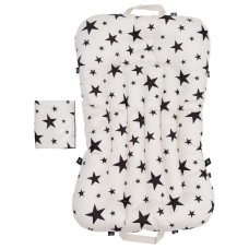 Little Seeds Portable Baby Bed and Blanket Set - Milky Way Cream