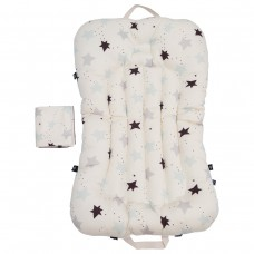 Little Seeds Portable Baby Bed and Blanket Set - Twinkle Stars Blue