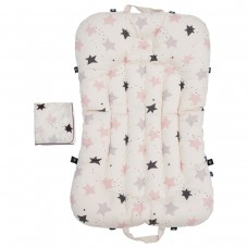 Little Seeds Portable Baby Bed and Blanket Set - Twinkle Stars Pink